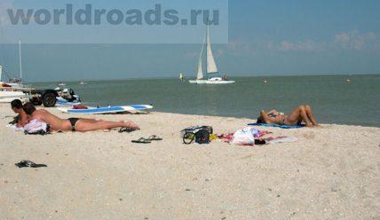 Пляжи Ейска: Ейская коса