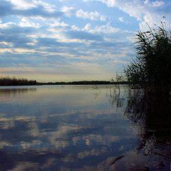Рассвет на Весёловском водохранилище