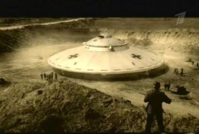 Кадр из фильма про нло третьего рейха