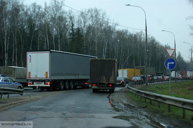 Пробка в Московской области