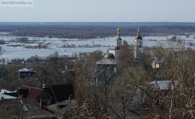 Разлив Клязьмы во Владимире