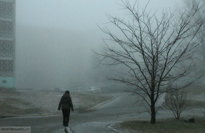 Элиста в тумане