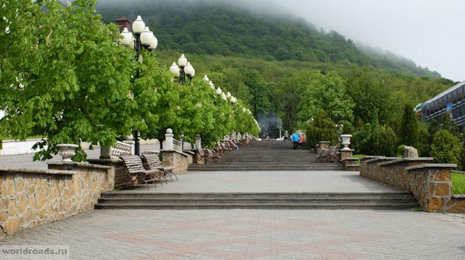 Каменная лестница в Железноводске
