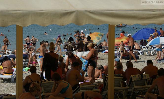 Пляжи Дивноморска