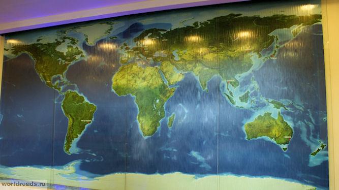 Фонтан Карта мира