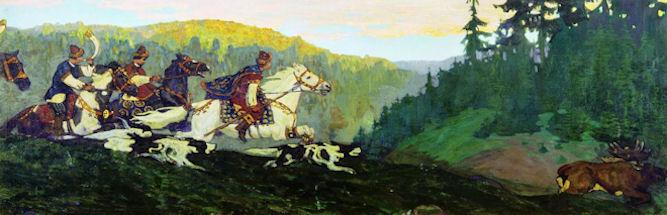 Рерих Княжья охота утро