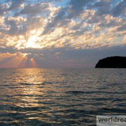 Закаты на море в Ольгинке