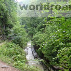 Гуамское ущелье – железная дорога среди скал
