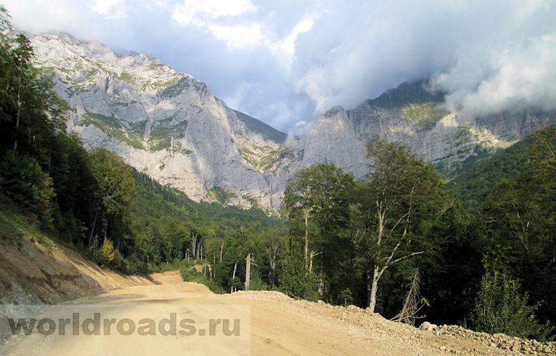 Дорога на Пшехский водопад