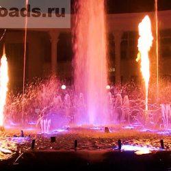 Поющий фонтан в Кисловодске с водой и огнём