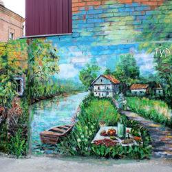 Стрит-арт по-ростовски: донские пейзажи на домах
